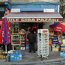 Corner Market, Istanbul Turkey by Edward J. Laquale