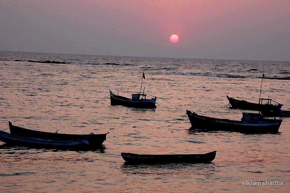 sunset in mumbai by vikram sharma