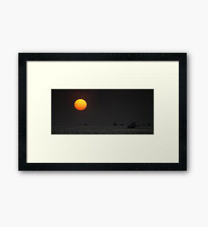 Shipping in the Sun Framed Print