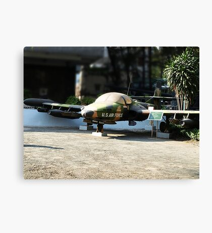 Cessna A-37 Dragonfly (Super Tweet) - Saigon War Museum Canvas Print