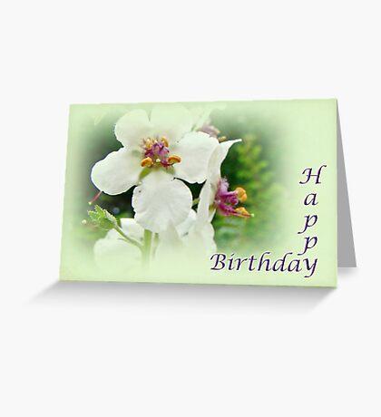 Moth Mullein Wildflowers - Happy Birthday Greeting Card