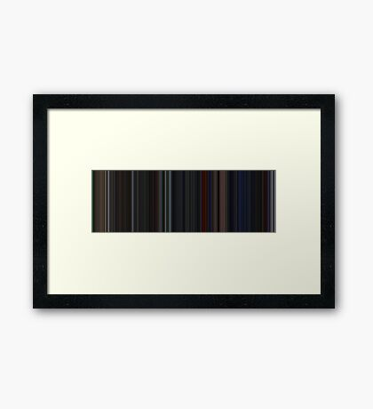 Moviebarcode: Das Boot (1981) [Simplified Colors] Framed Print