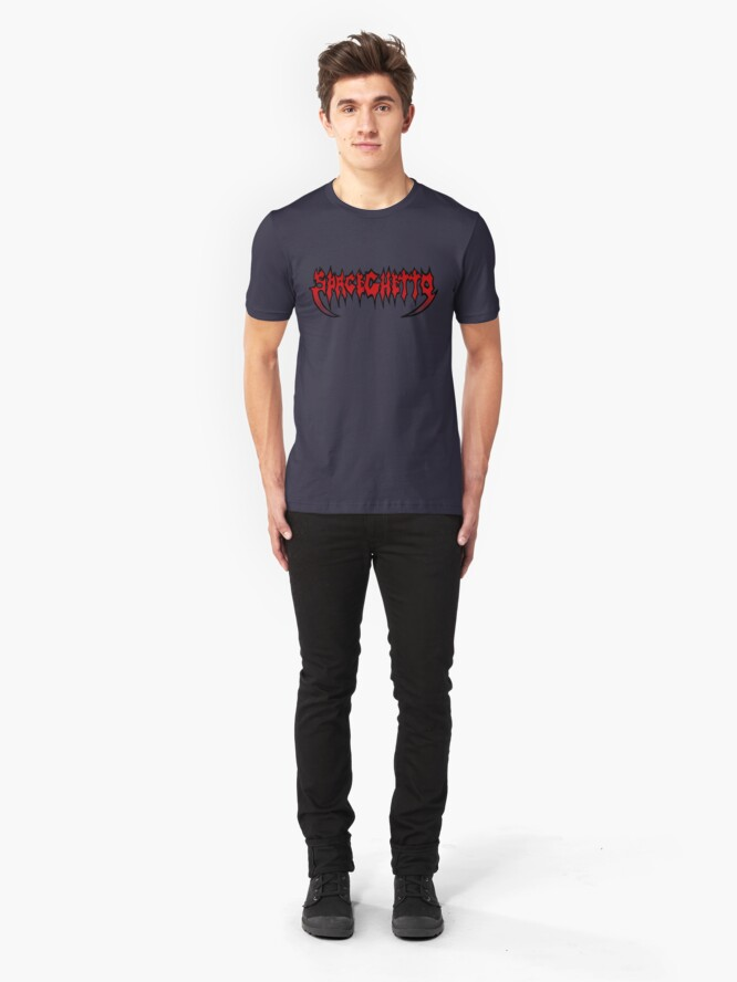 Alternate view of SpaceGhetto Metal Slim Fit T-Shirt