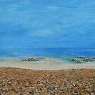 Looking down to the beach by Linda Ridpath