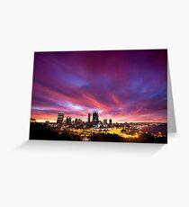 Perth city sunrise , Western Australia Greeting Card