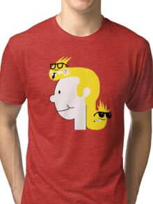 Business in the Front... Tri-blend T-Shirt