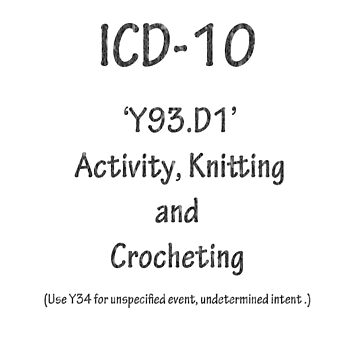 ICD10: Y93.D1 Activity, Knitting and Crocheting by Shutterbug-csg