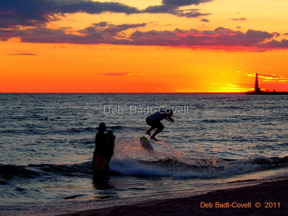 Stoked Sunset by Deb  Badt-Covell