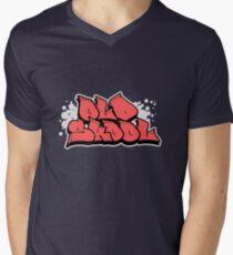 OLD SKOOL Mens V-Neck T-Shirt