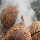 Steaming coconuts by Rachel Doherty