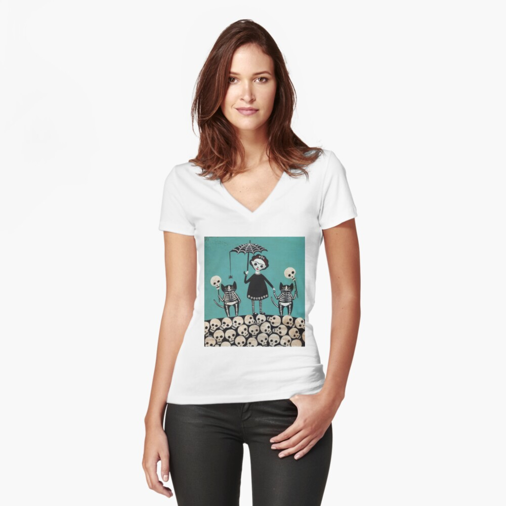 Day of the Dead  Fitted V-Neck T-Shirt