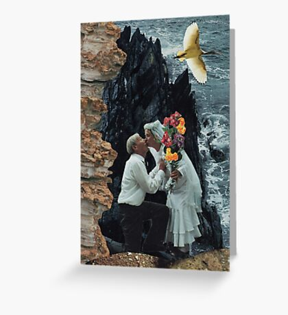 On the precipice Greeting Card