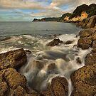 Waimama Bay Rocks by Ken Wright