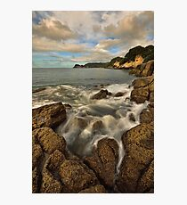 Waimama Bay Rocks Photographic Print