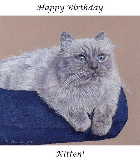 Happy Birthday Kitten Birthday Card Posters By Patricia Barmatz