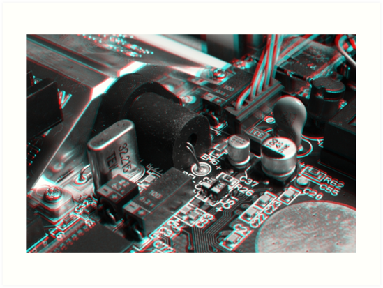Anaglyph Circuitry 7 by Daniel Owens