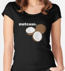 nutcase. (coconut) <white text> Women's Fitted Scoop T-Shirt