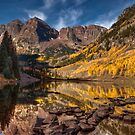 Late Fall at Maroon Bells by Wojciech Dabrowski