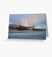 Beach Rainbow Three Greeting Card