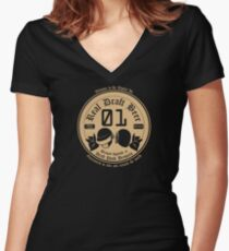 Draft Punk Beer Women's Fitted V-Neck T-Shirt
