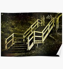 Stairs to Redcliffe. Queensland. Australia. Poster