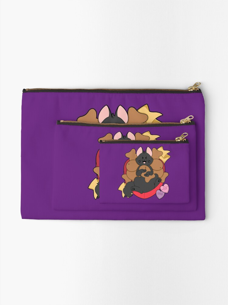 Alternate view of Valentines Box of Chocolates — Black Cat (Longhair) Zipper Pouch