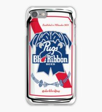 Pug Blue Ribbon iPhone Case/Skin
