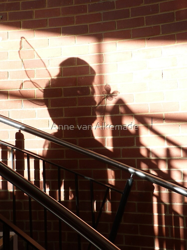 Who is that coming down the stairs? by Anne van Alkemade