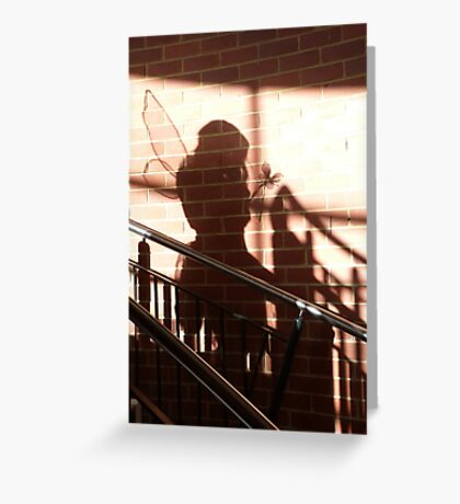 Who is that coming down the stairs? Greeting Card
