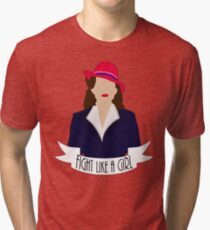 "P. Carter: ""Fight like a Girl."" Tri-blend T-Shirt"