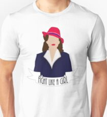 "P. Carter: ""Fight like a Girl."" Unisex T-Shirt"