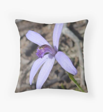 Silky Blue Orchid Throw Pillow