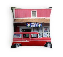 Classic Car and Aoki's Shave Ice Throw Pillow
