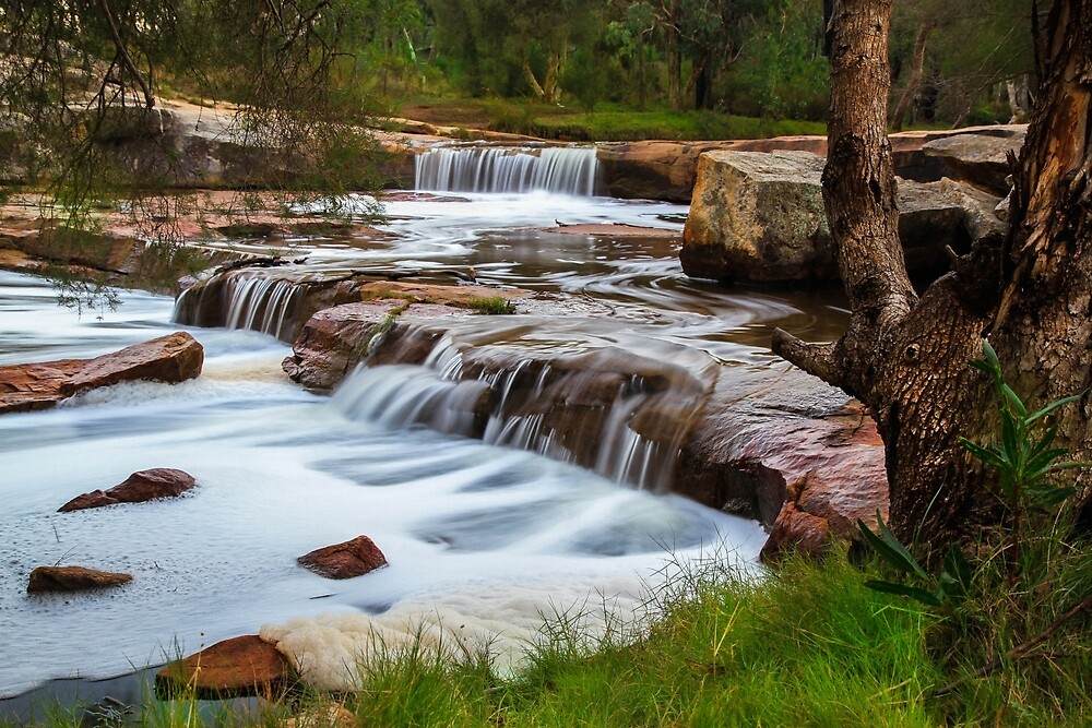 Noble falls, Perth hill's , Western Australia by Marc Russo