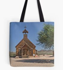 Goldfield Church HDR Tote Bag