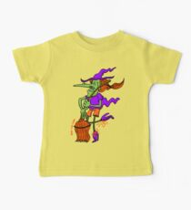 Crazy Witch Dancing with her Broomstick Kids Clothes