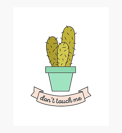 Don't Touch Me Photographic Print
