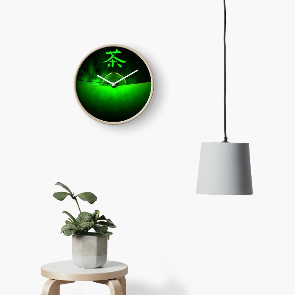 Green tea Clock