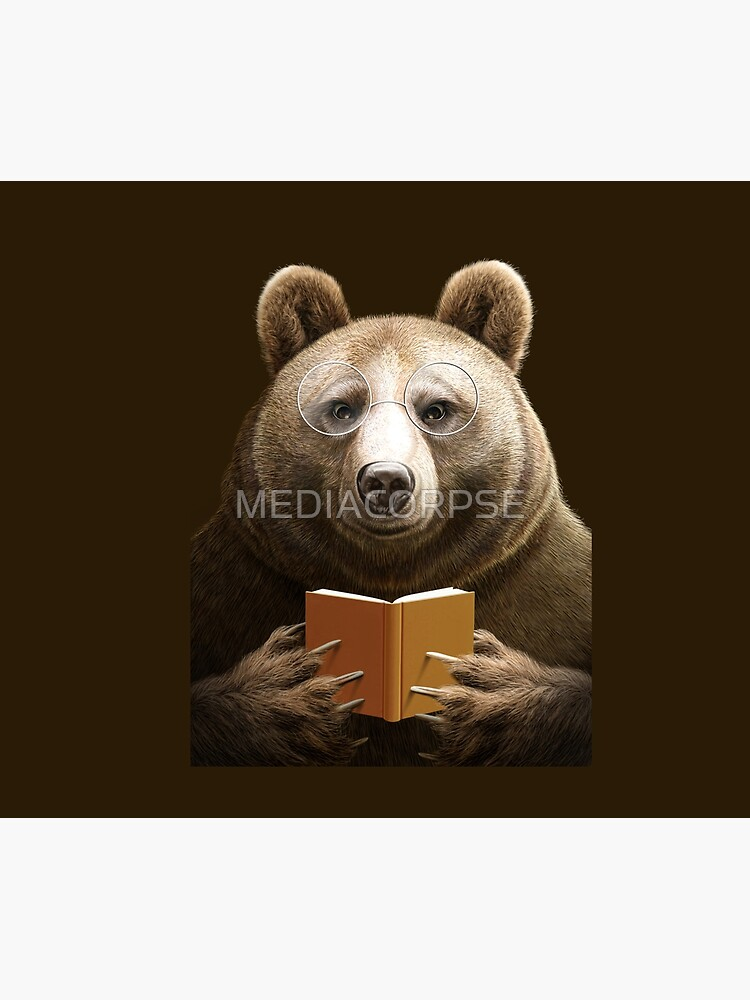 BEAR READING A BOOK by MEDIACORPSE