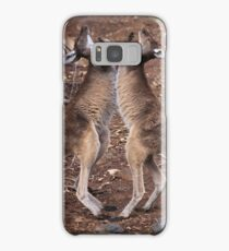 kangaroo's fighting, Perth hill's, Western Australia Samsung Galaxy Case/Skin