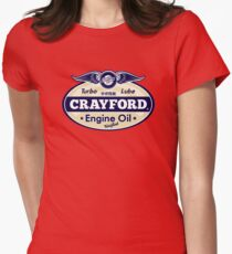 Crayford Engine Oil Womens Fitted T-Shirt