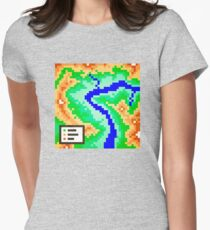Pixel Topography Women's Fitted T-Shirt
