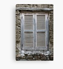 Old wood window  Canvas Print