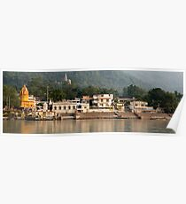 A view of the Ganges in Rishikesh, India  Poster
