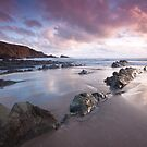 Evening light at Hartland, Devon by Zoe Power