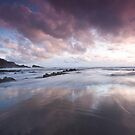Magical reflections - sunset at Hartland, Devon by Zoe Power