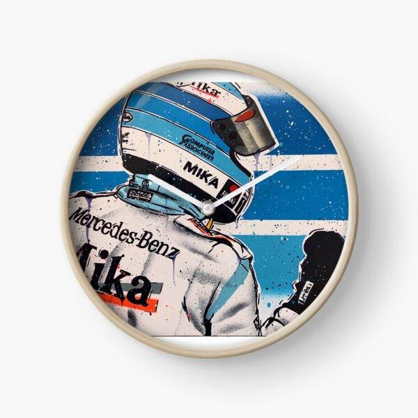 Mikka Hakkinen - McLaren graffiti painting by DRAutoArt Clock