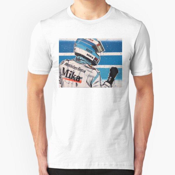 Mikka Hakkinen - McLaren graffiti painting by DRAutoArt Slim Fit T-Shirt