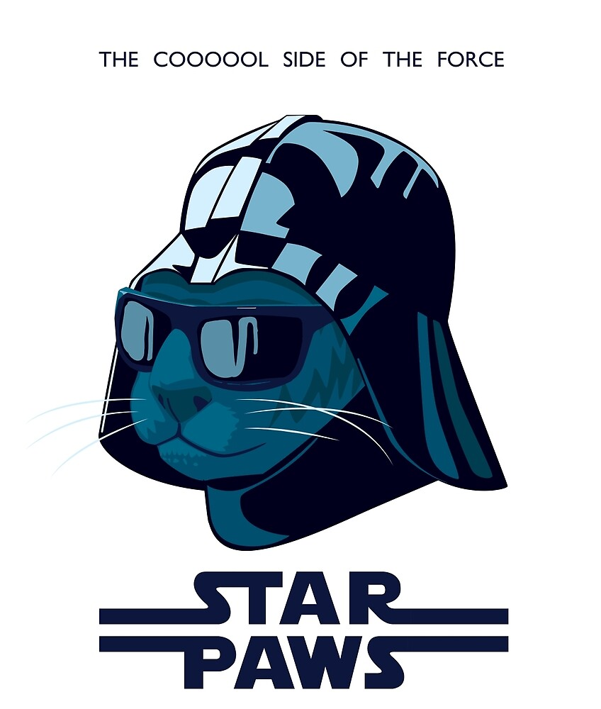 Darth Kitty - Imperial blue by Duncan Maclean