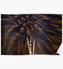 A Fireworks Tree Poster